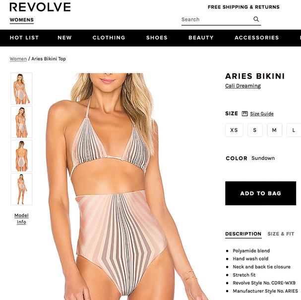 REVOLVE.COM Cali Dreaming Aries & Dorado Bikini