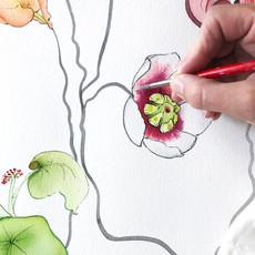 Creating Secret Garden Print for Cali Dreaming
