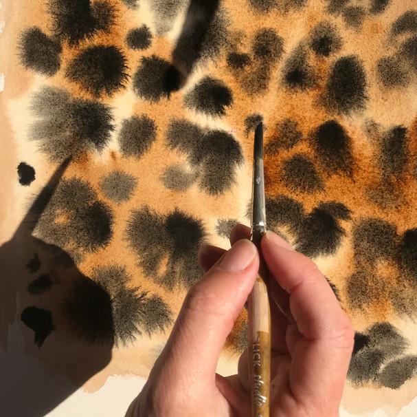 Creating Cali Dreaming's Cheetah Print