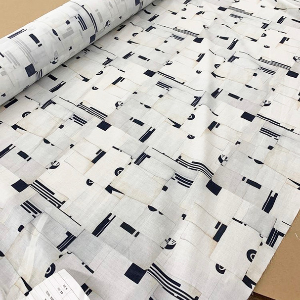 100% Cotton fabric roll of Broken TIle Print for Cali Dreaming