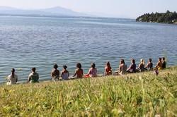 stage d'été au bord du lac