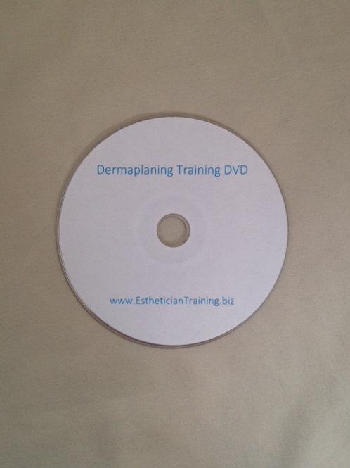DVD demonstrating basic dermaplaning techniques