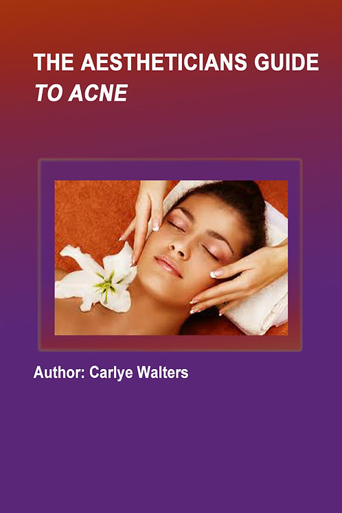 Aesthetics manual discussing acne the best acne treatments for their customers