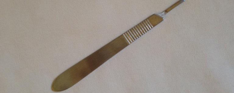 #3 Stainless Steel Dermaplaning Blade Handle