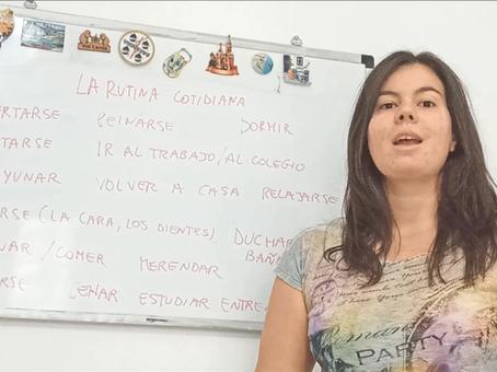 La rutina cotidiana en español