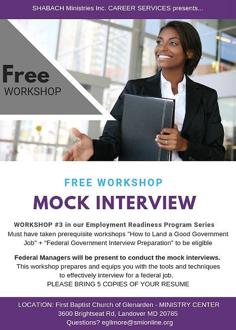 FREE WORKSHOP. Mock Interview 5. GENERIC