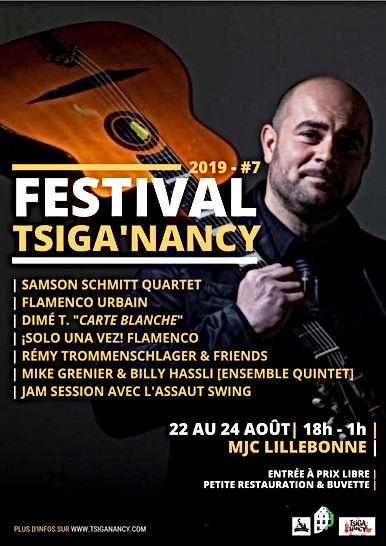 Affiche de la 7ème édition du Tsiga'Nancy Festival / Samson SCHMITT