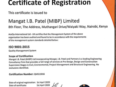MIBP becomes ISO 9001:2015 Certified. Congratulations