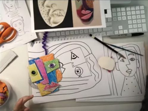 3D Picasso Inspired Portraits
