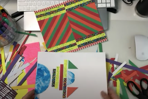 Frank Stella Inspired Collages