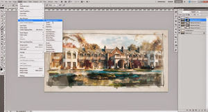 How to create Watercolor Effect For Arch Viz in Photoshop