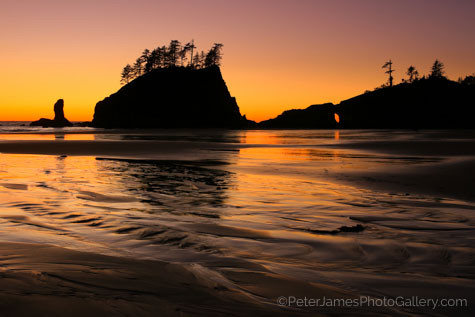 Evening glow on seastacks in the pacific northwest with Peter James - nature photographer