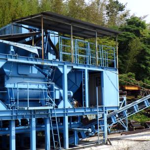 移動式残土処理リサイクル設備