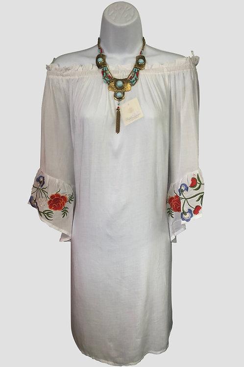 Off-the-Shoulder White Dress