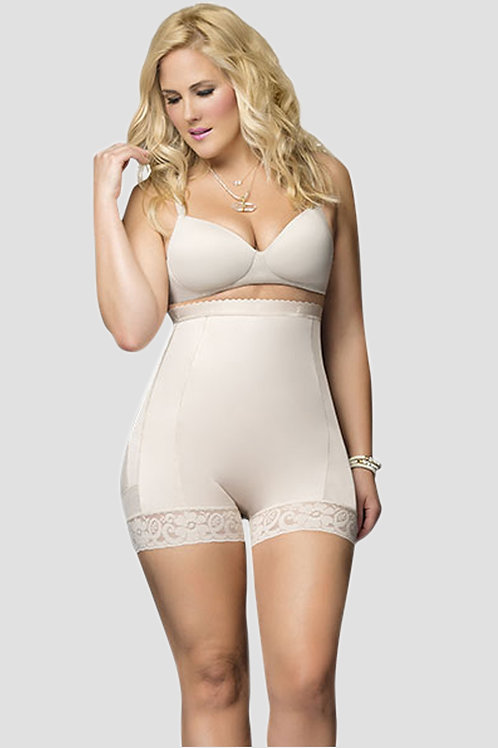 Short Girdle with Buttocks Enhancement Panty Style - Beige
