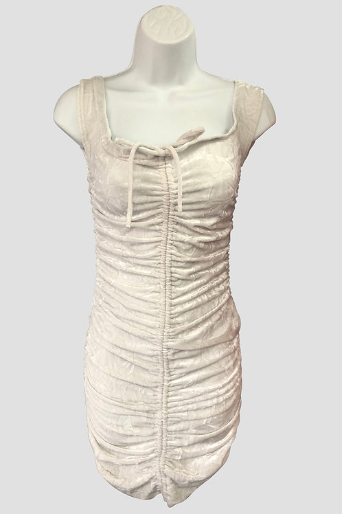Ruched Ivory Dress