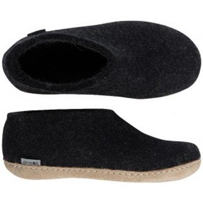 Charcoal Glerups shoe, leather sole