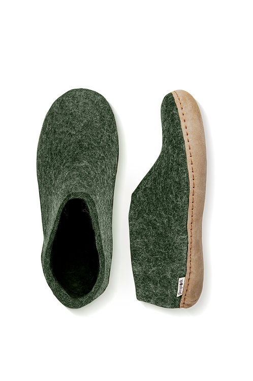 Forest Glerups with heel. calf skin sole