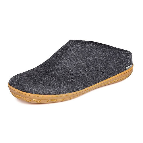 Charcoal Glerups. Rubber sole, low heel