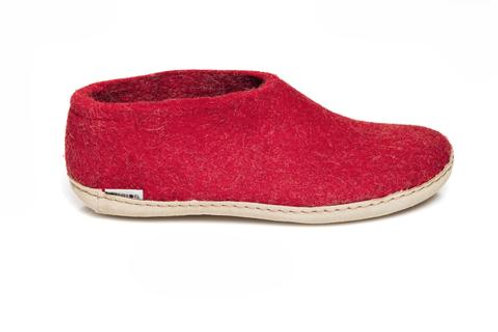Red Glerups shoe, leather sole