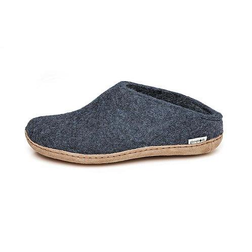 Denim Glerups slip on,  leather sole