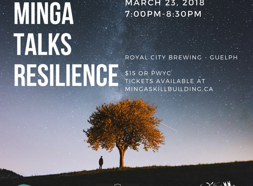 Minga Talks Resilience:  3 speakers + 3 perspective-shifting topics + beer = a great night out!