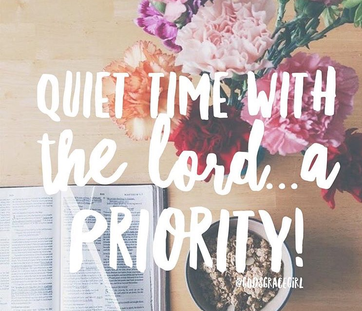 Quiet time with the Lord