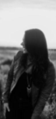 Portrait Cori McMillan black and white