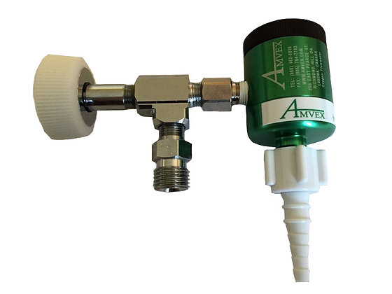 Wall mount click style Flow Meter Regulator with DISS fitting.