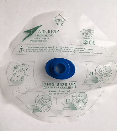 CPR Protective Barrier with Valve, & Filter in ziploc bag