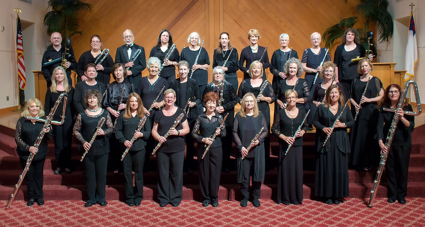 Space Coast Flute Orchestra SCFO photo of flute group