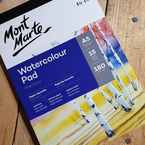 Mont Marte W/Colour Pad A5 180msg