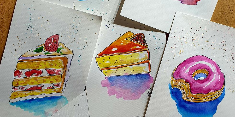 Crafts Alive Logan- High Tea Watercolour Fri