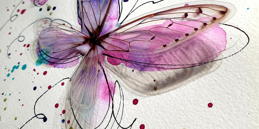 Crafts Alive Logan- Butterfly Watercolour Fri