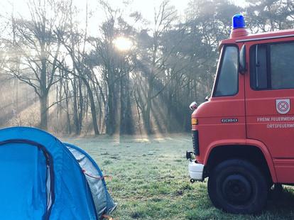 Brandweer camper