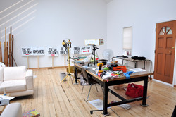 The studio after a few days.