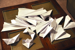 paper airplane brain