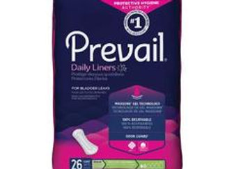 Bladder Control Pad Prevail® Daily Liner 7-1/2 Inch Length Light Absorbency Poly