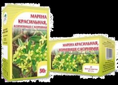 Rhizomata et radices Rubiae tinctori (МАРЕНА КРАСИЛЬНАЯ, КОРНЕВИЩЕ С КОРНЯМИ)