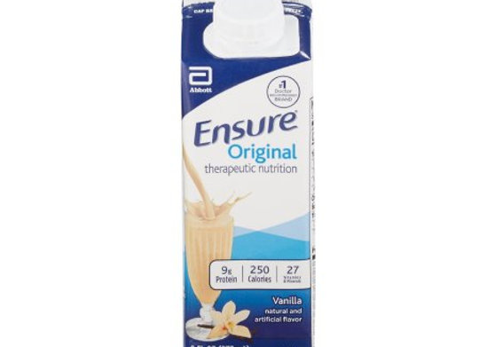 Oral Supplement Ensure® Vanilla Flavor Ready to Use 8 oz. Carton