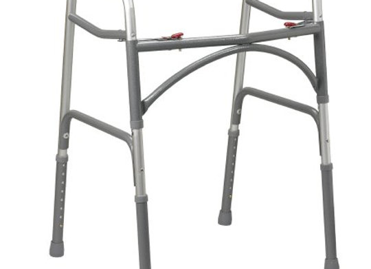 Bariatric Dual Release Walker Adjustable Height drive™ Aluminum Frame 500 lbs. W