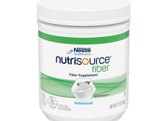 Oral Supplement Nutrisource® Fiber Unflavored Powder 7.2 oz. Canister