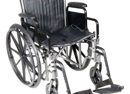 Wheelchair McKesson Dual Axle Desk Length Arm Removable Padded Arm Style Swing-A