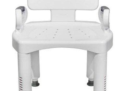 Bath Bench McKesson Removable Arm Rail Plastic Frame Removable Back 16 to 20-1/2
