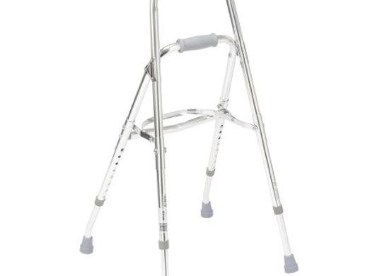 Side Step Folding Walker Adjustable Height drive™ Hemi Aluminum Frame 300 lbs. W