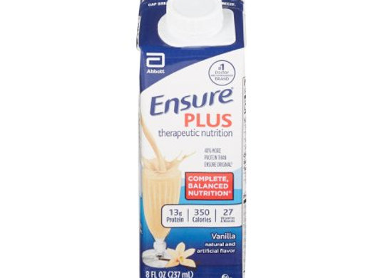Oral Supplement Ensure® Plus Vanilla Flavor Ready to Use 8 oz. Carton