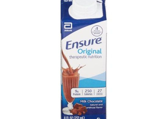 Oral Supplement Ensure® Chocolate Flavor Ready to Use 8 oz. Carton