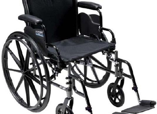 Lightweight Wheelchair drive™ Cruiser III Dual Axle Full Length Arm Flip Back /
