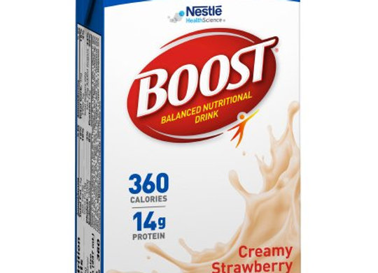 Oral Supplement Boost® Plus Creamy Strawberry Flavor Ready to Use 8 oz. Carton