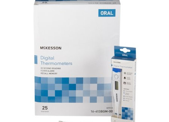 Digital Stick Thermometer McKesson Oral Probe Handheld